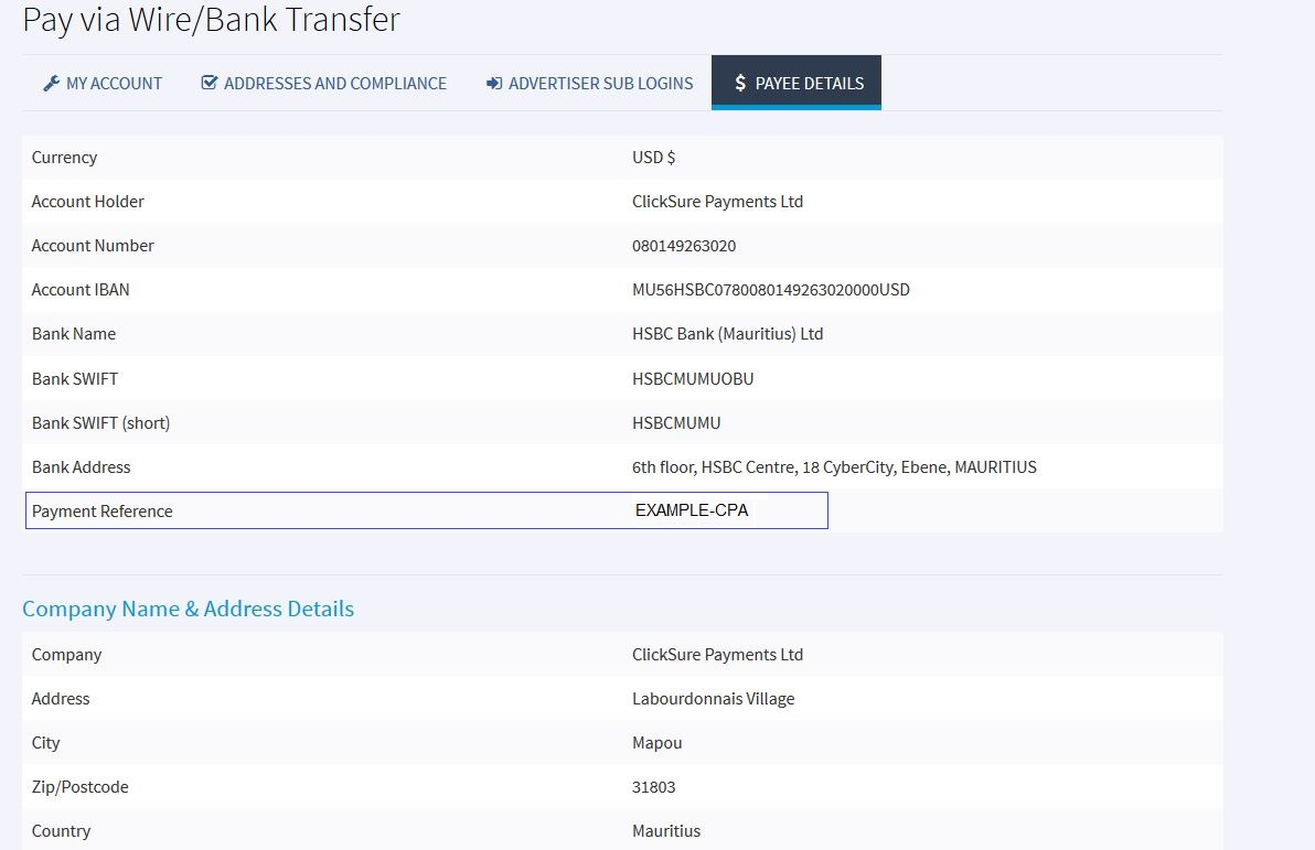 How Do I Settle My Invoice With ClickSure Knowledge Base ClickSure - Payment details on invoice