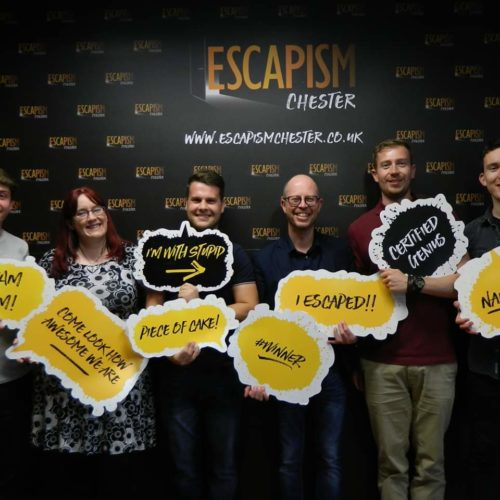 Chester team visit escape room
