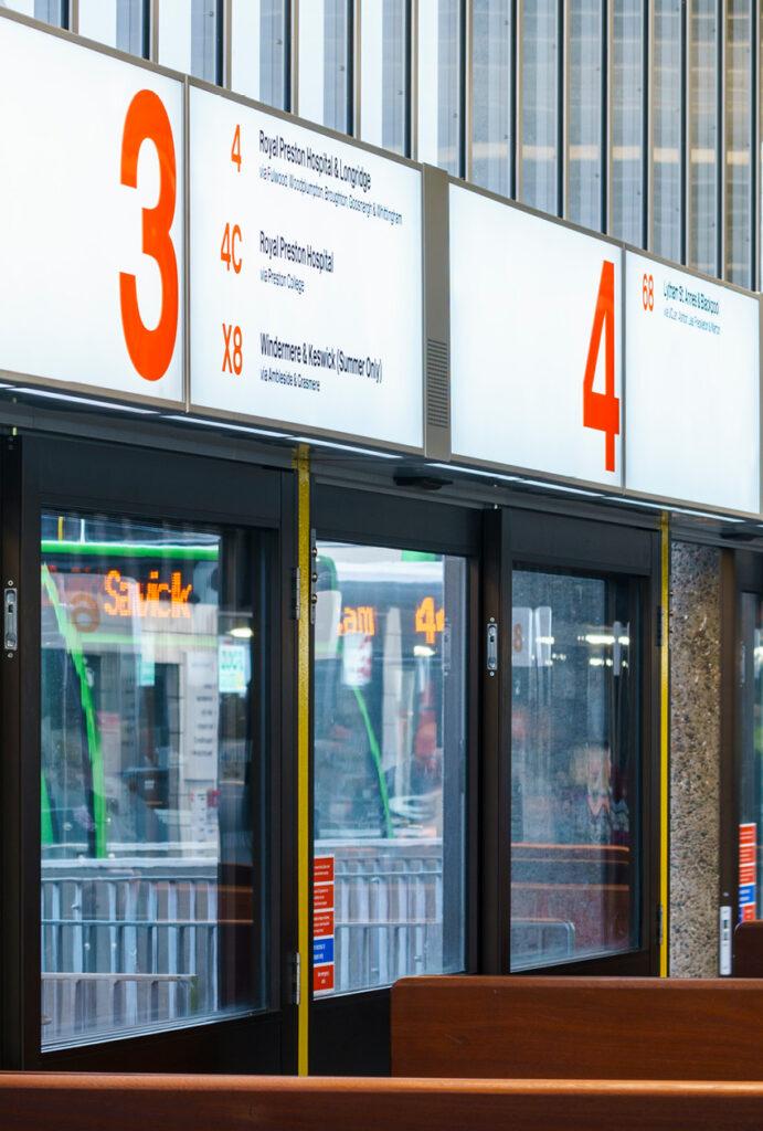 Bus terminals Preston Bus station