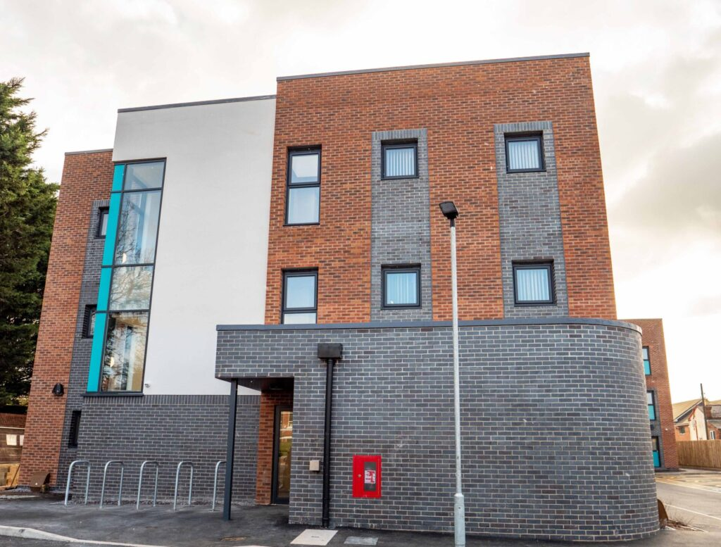 Thirty modern apartments have been constructed as part of the regeneration of the derelict Albion Hotel, a brownfield site at Connah's Quay, to meet identified needs for over 55s in the region.
