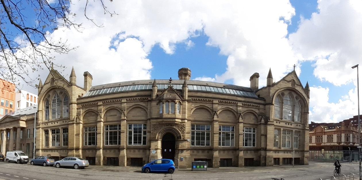 Grosvenor building panorama view