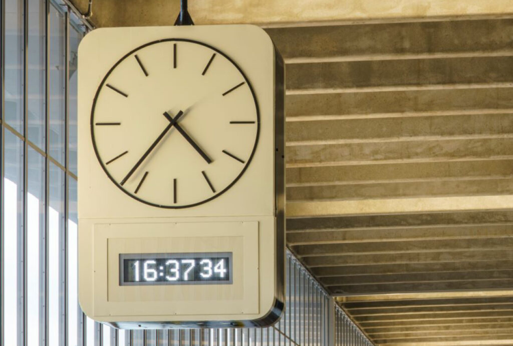 Preston Bus Station clock