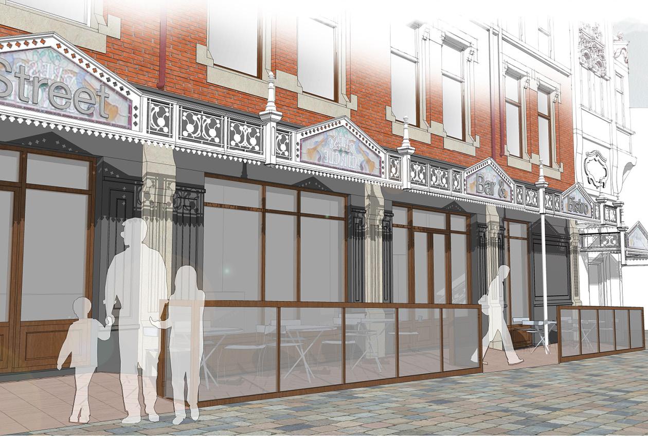 Proposed new retail exterior design Blackpool Grand Theatre