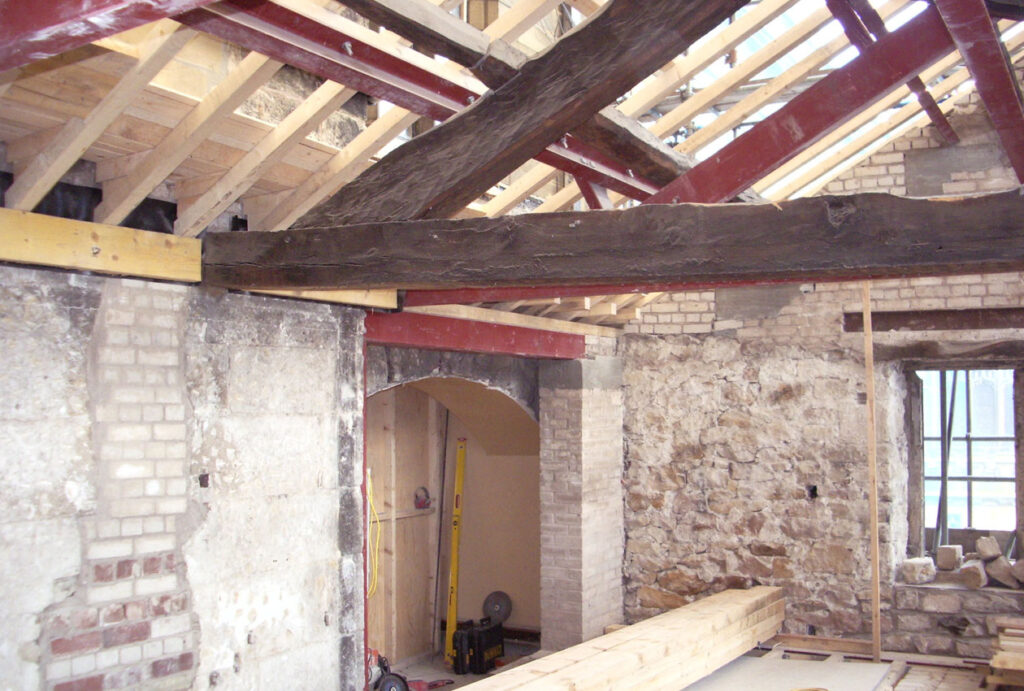 Shirk repairs to ceiling and interior