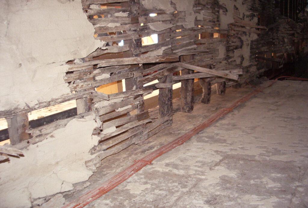 Shirk repairs to interior walls