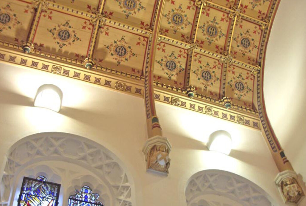 Sodality Chapel ceiling details