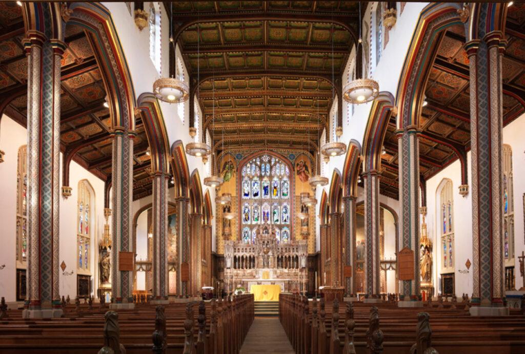 St Peters Church Stonyhurt aisle