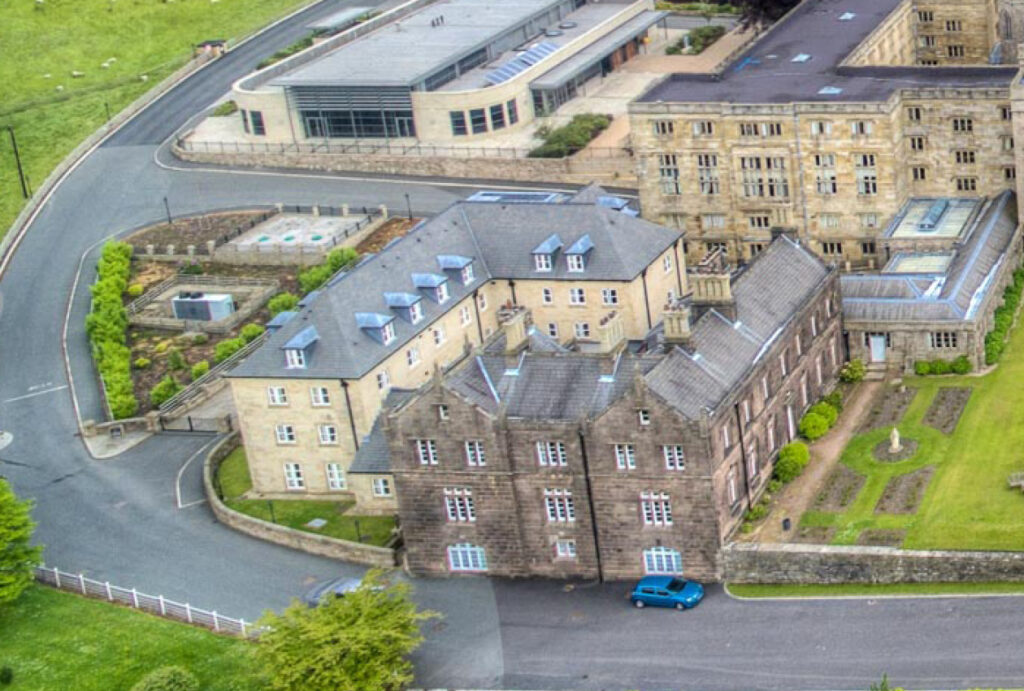 Weld House aerial view Stonyhurst