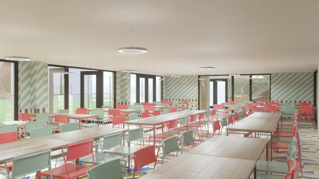 Withington Girls School dining area interior