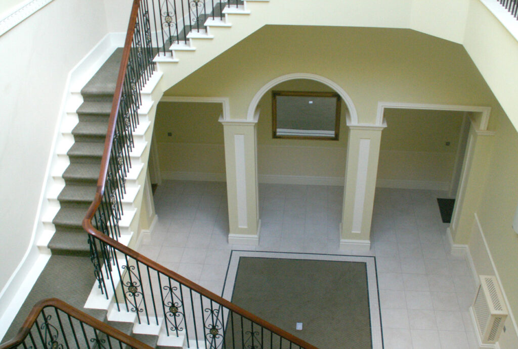 Woodfold Park Estate interior staircase