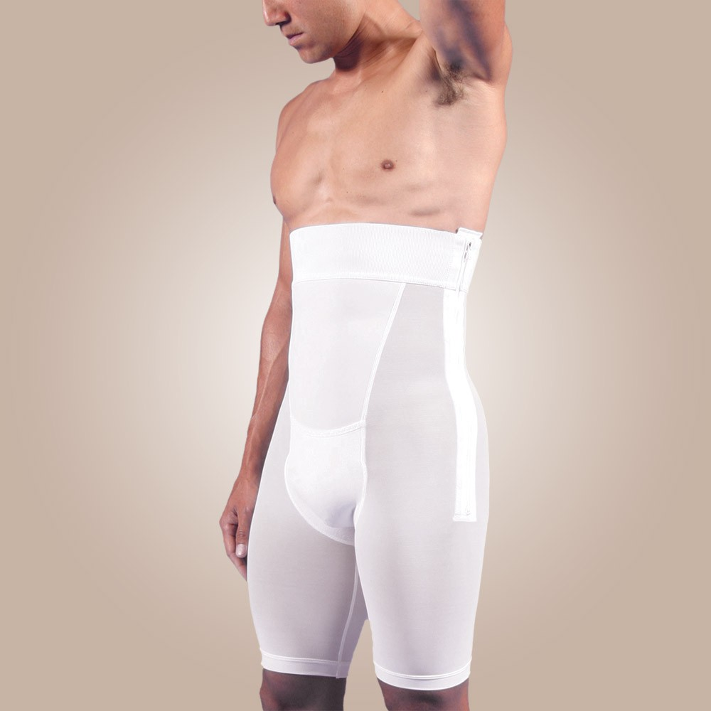 Zippered Above-Knee Abdominal Garment