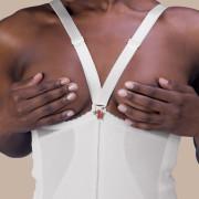 Rubenesque Mid-Thigh High-Back Abdominal Girdle, Zippered