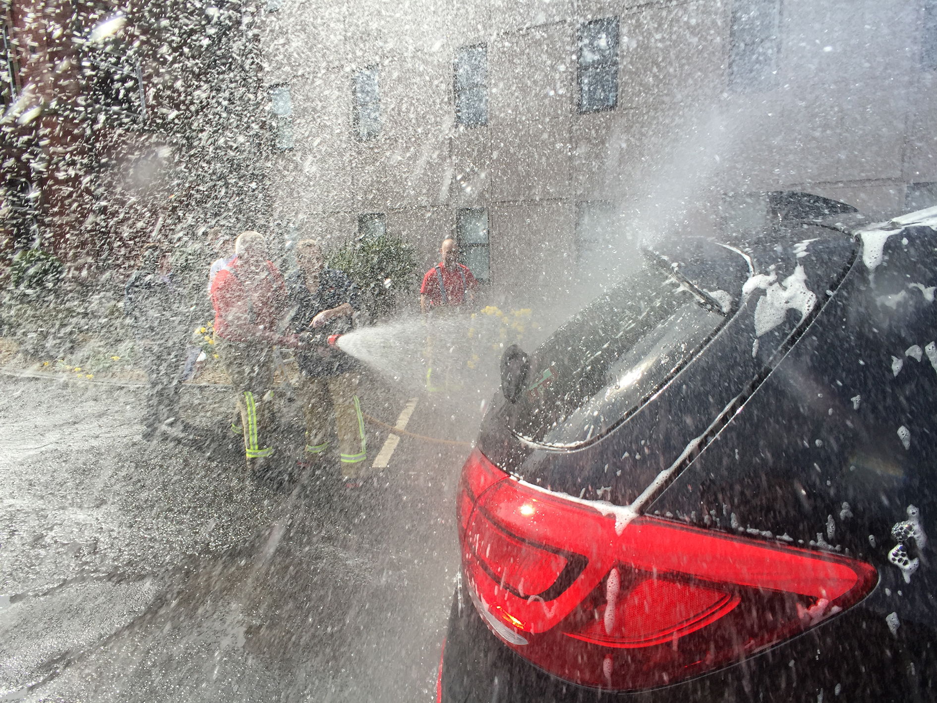 Firefighter S Charity Car Washes Lancashire Fire And Rescue Service