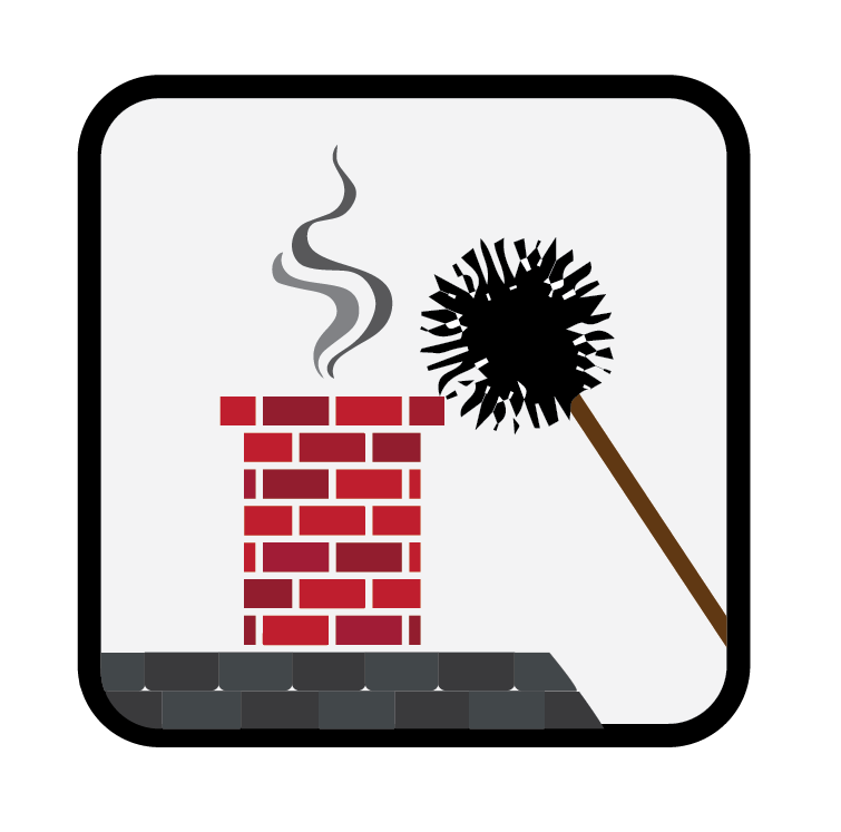 Chimney Sweeping Icon