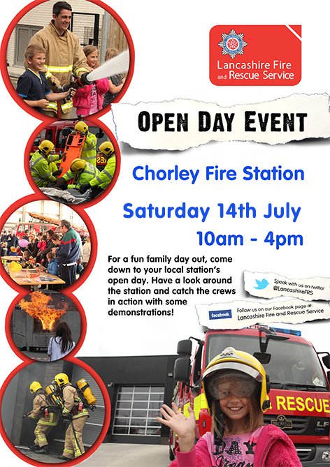 Chorley Fire Station open day 14th July 2018