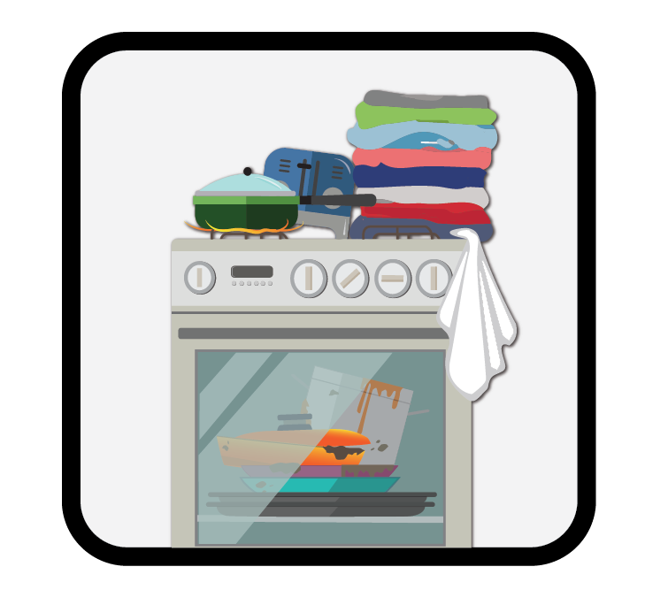 cluttered cooker icon