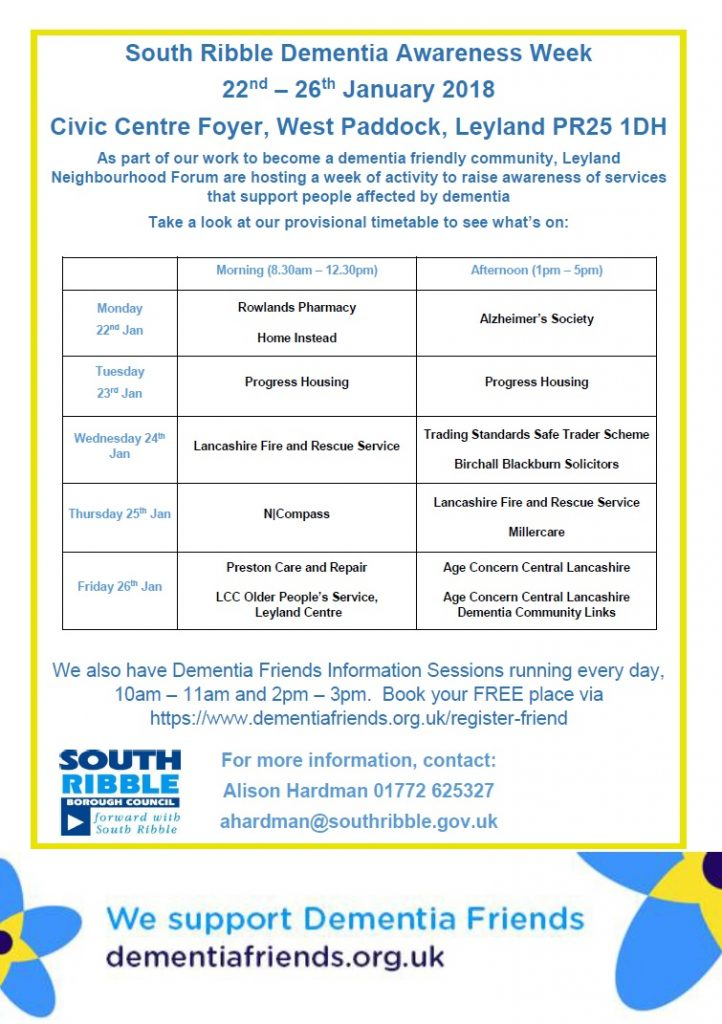 South Ribble Dementia Awareness Week