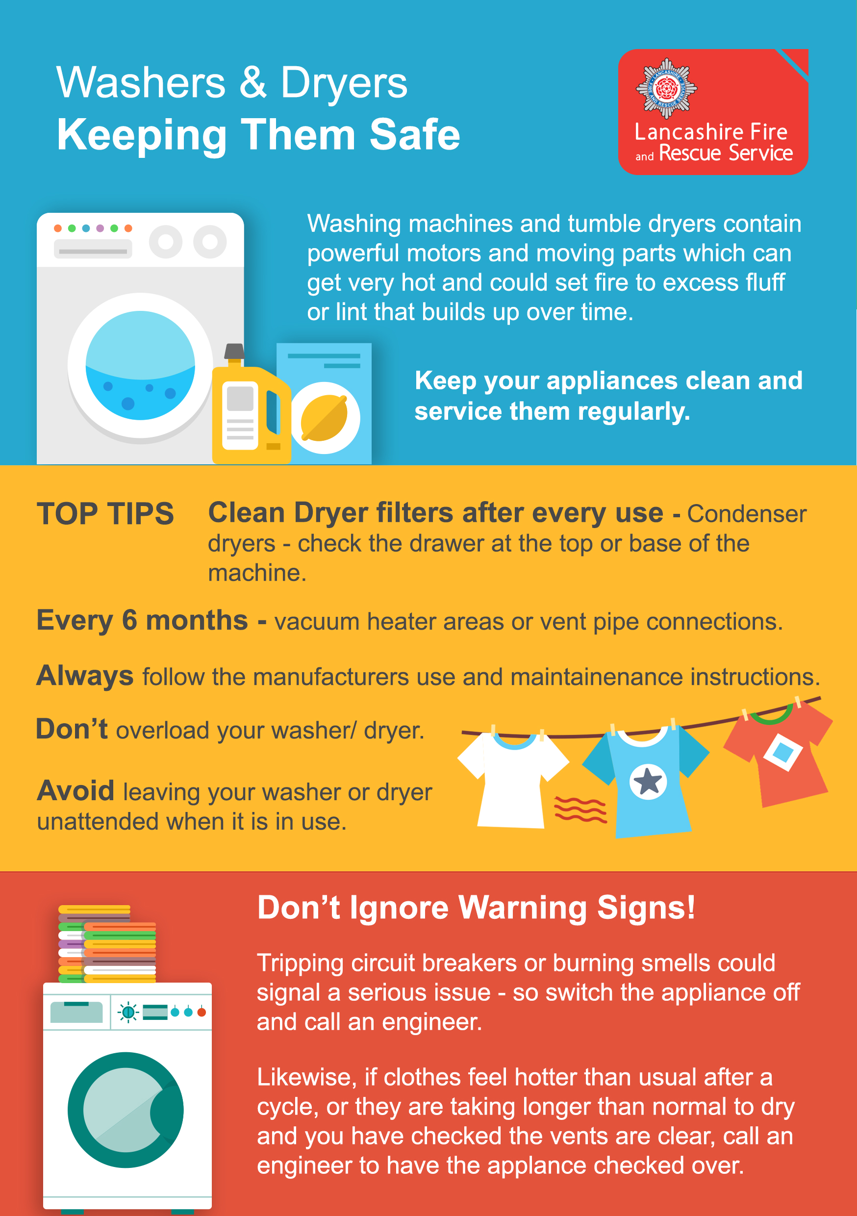 Dryer and washer leaflet image