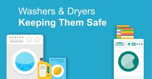 Dryers and washing machine safety image