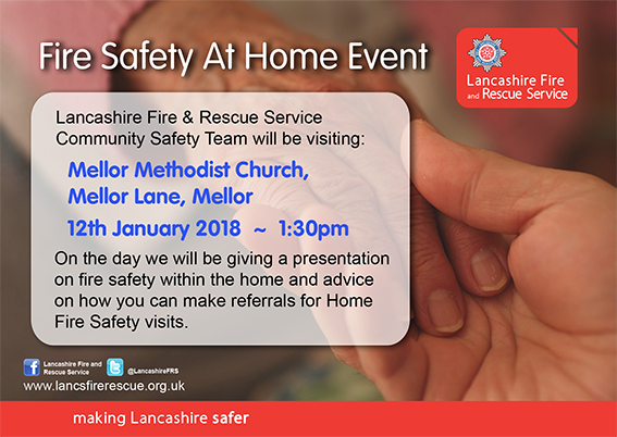 Fire Safety Event in Mellor Poster
