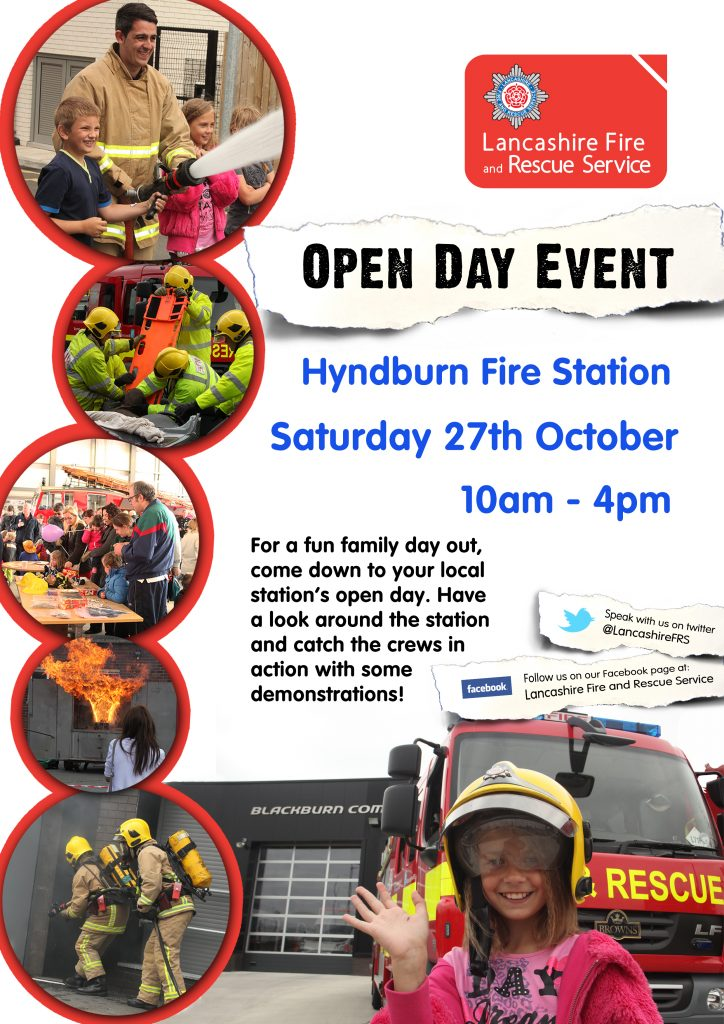 Hyndburn Fire Station Open Day Poster