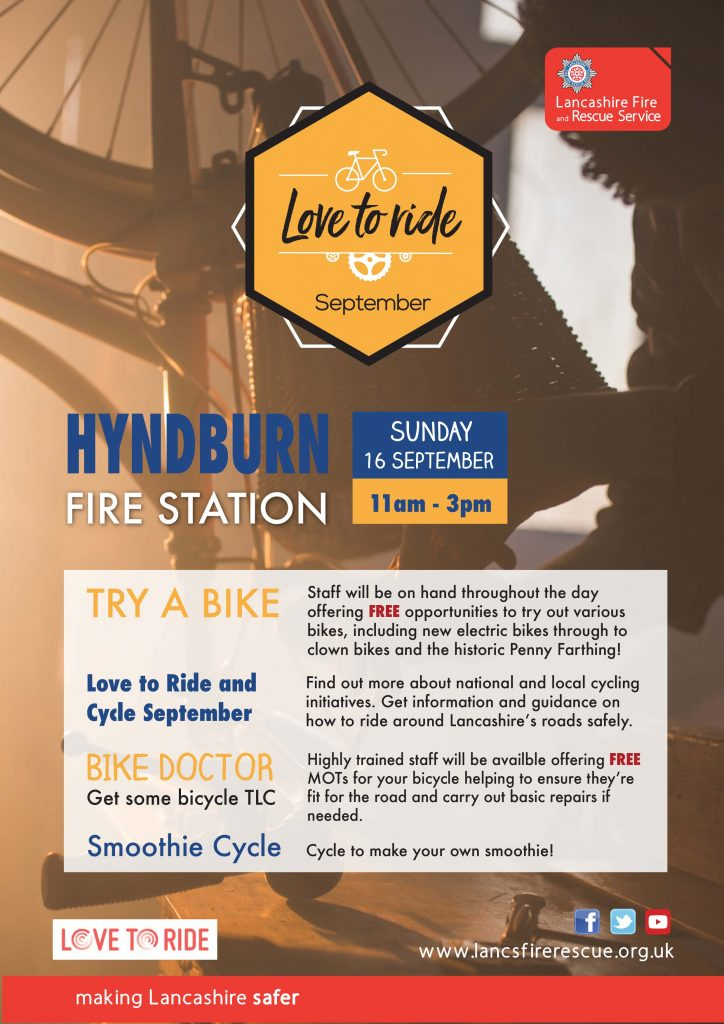 Bike Event at Hyndburn Poster