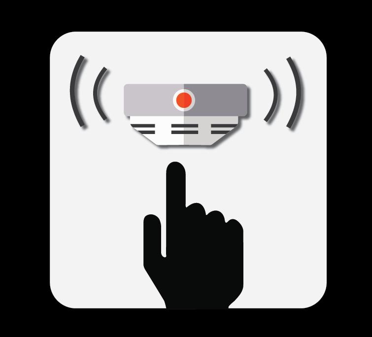 test your smoke alarm icon