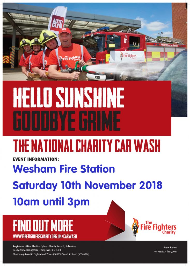 Wesham Charity Car Wash Details Poster