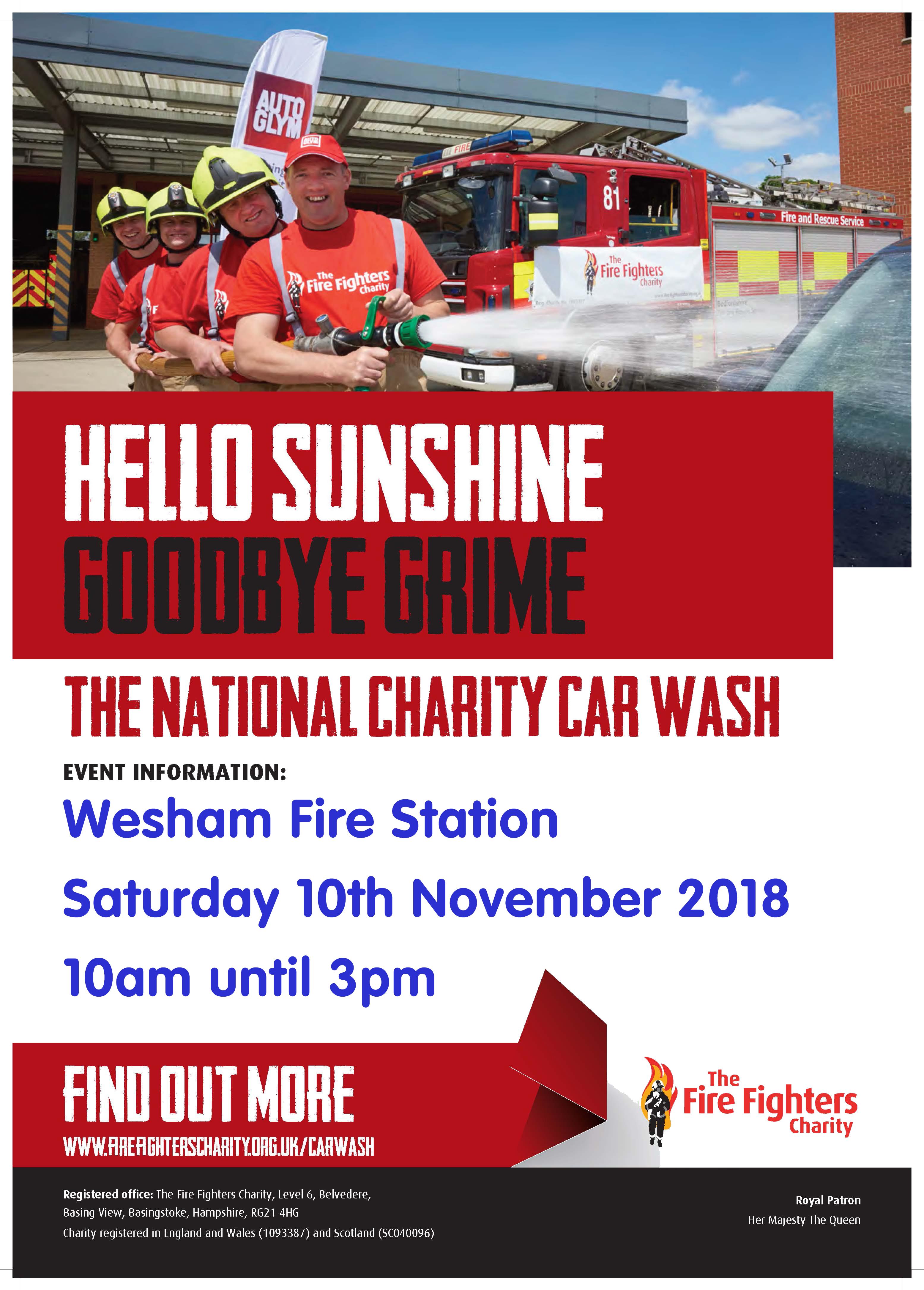 Wesham Charity Car Wash Details Poster