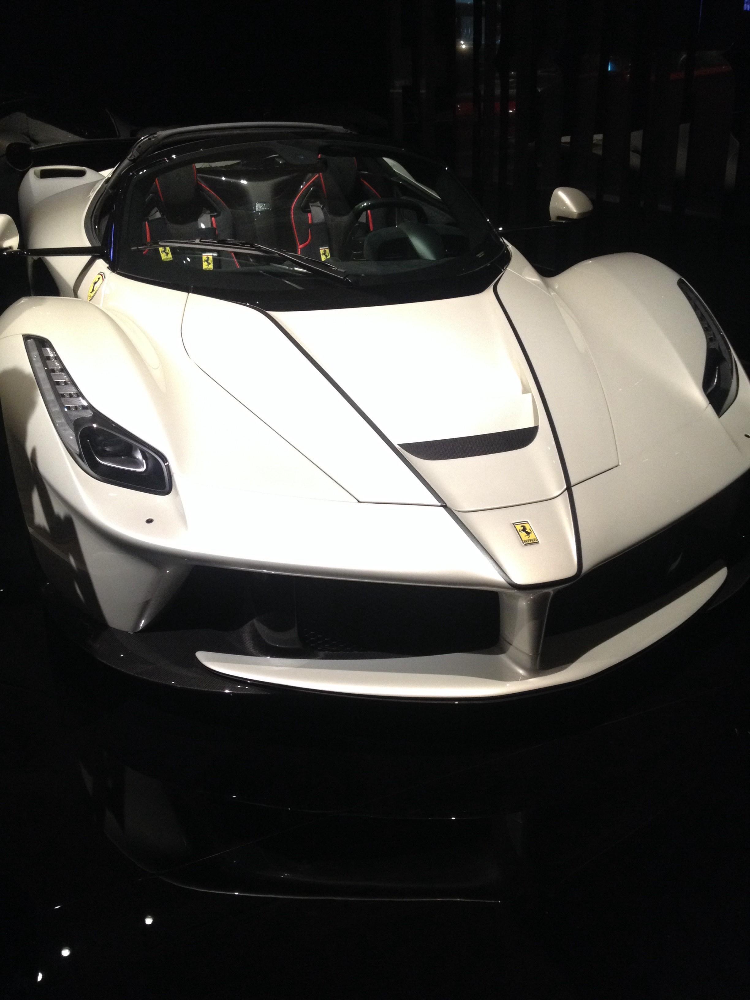 White ferrari super car