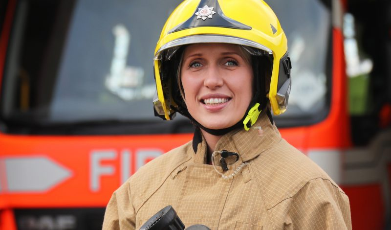 Female firefighter