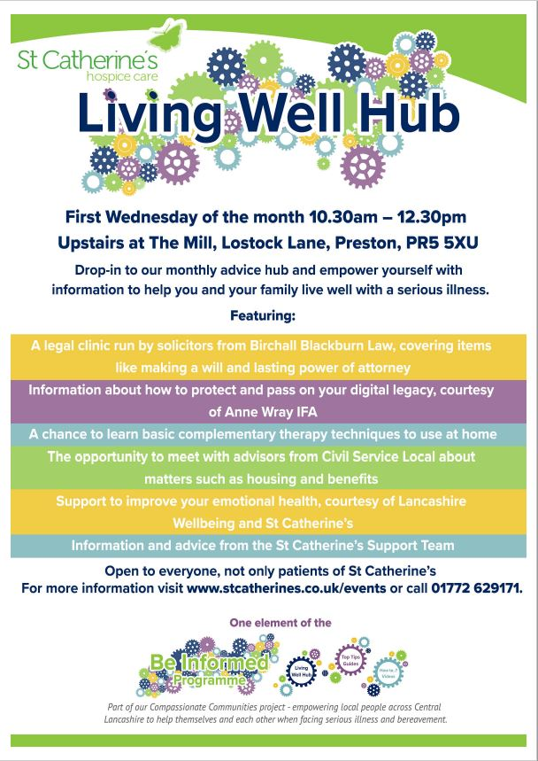 Living Well Hub Event Preston Poster