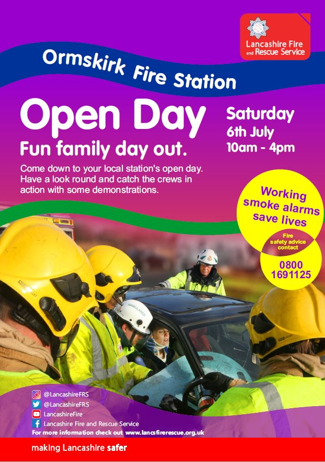 poster advertising ormskirk open day