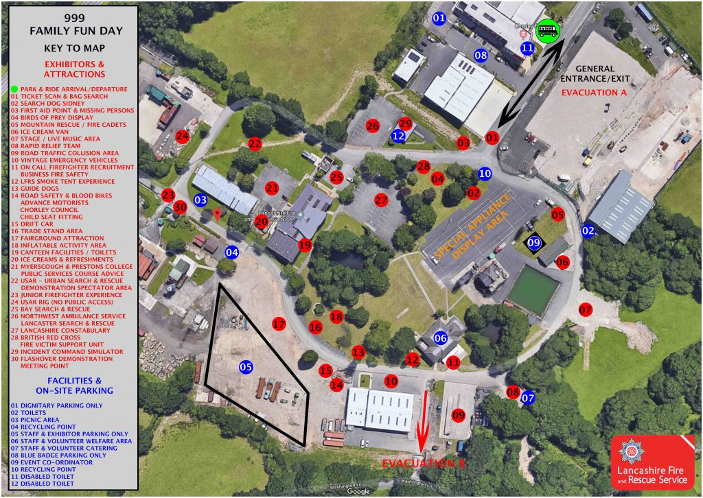 map of service training centre