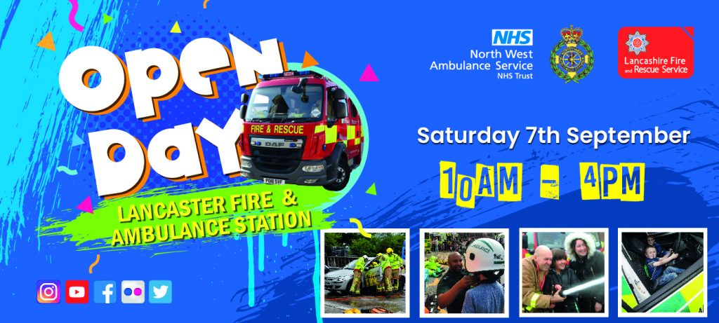 Lancaster Fire and Ambulance Station Open Day Poster
