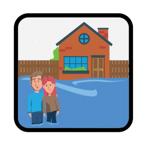 Flooding advice icon