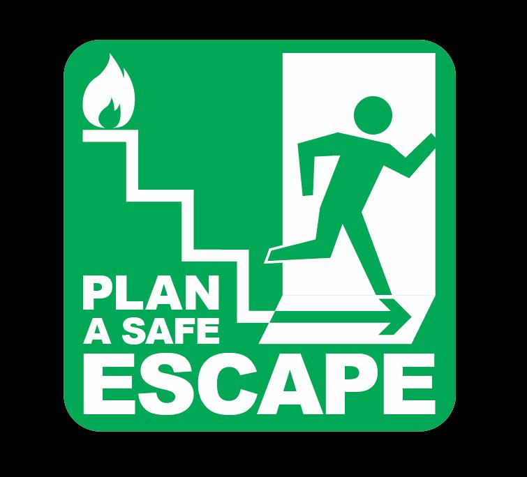 Plan an escape icon