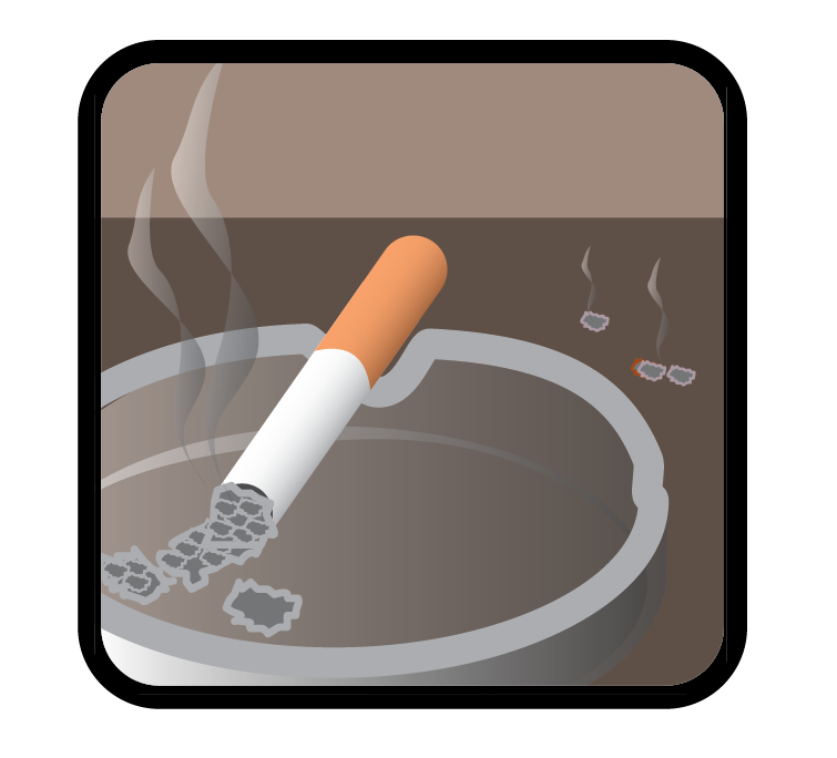 only smoke outside advice icon