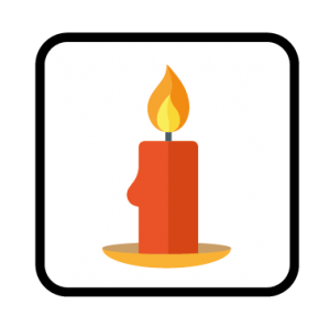 candle safety icon