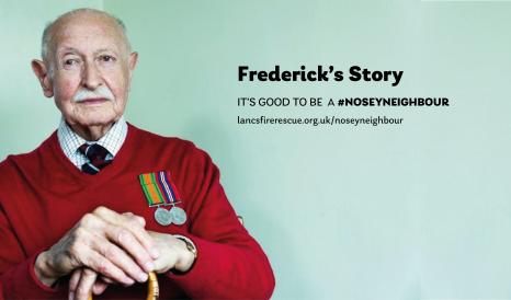 image of elderly gentleman wearing war medals