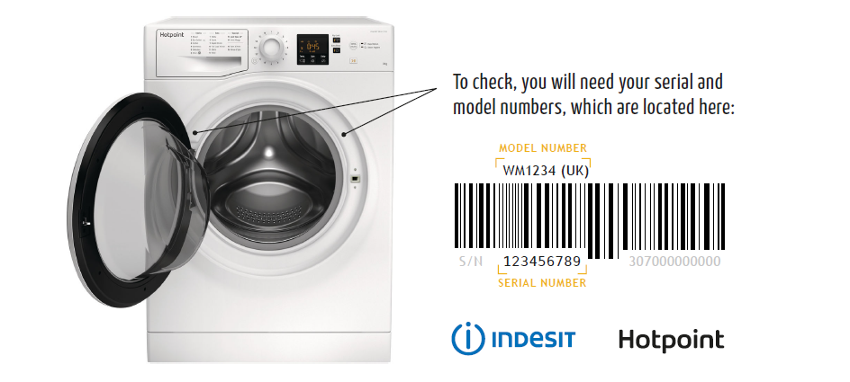 Whirlpool how to check serial number