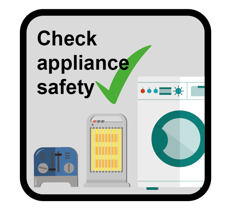 Check appliance safety icon