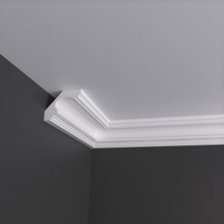 Swan Neck with Rope Plaster Cornice Coving - 3m