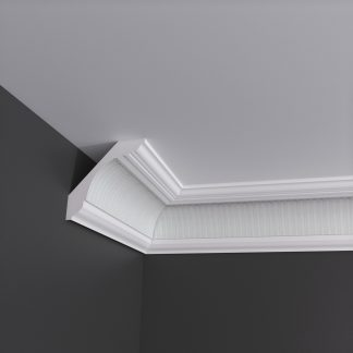 Fluted Plaster Cornice Coving - 3m