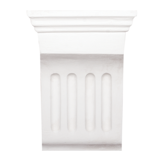 Small Fluted Plaster Corbel - H17 x W13 x D6.5cm