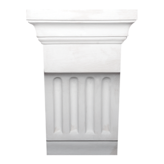 Large Fluted Plaster Corbel - H25.5 x W13 x D9.5cm