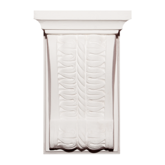 Rope and Leaf Plaster Corbel - H21 x W13 x D7.5cm