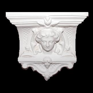 Victorian Plaster Corbel - H27 x W30 x D10cm