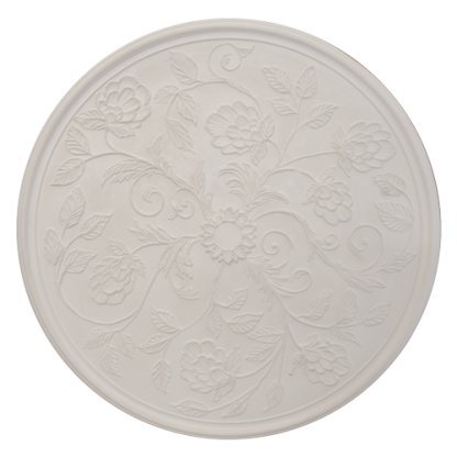 Victorian/Edwardian Flower Plaster Ceiling Rose - 47in / 119cm