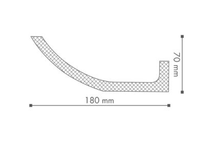 WT4 Plastic Lightweight  Cornice Coving Indirect Lighting System - 2.4m